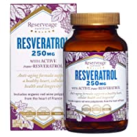Reserveage, Resveratrol 250 mg, Antioxidant Supplement for Heart and Cellular Health...