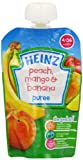 Heinz Peach/ Mango and Banana Fruit Pouch 4-36 Months 100 g (Pack of 6)