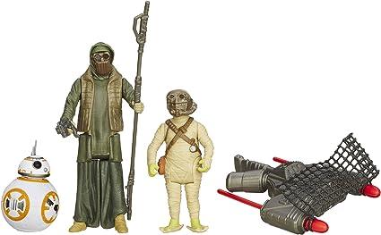Star Wars The Force Awakens Black Series 3.75 Rey /& Forcelink BB-8 Droid Figures