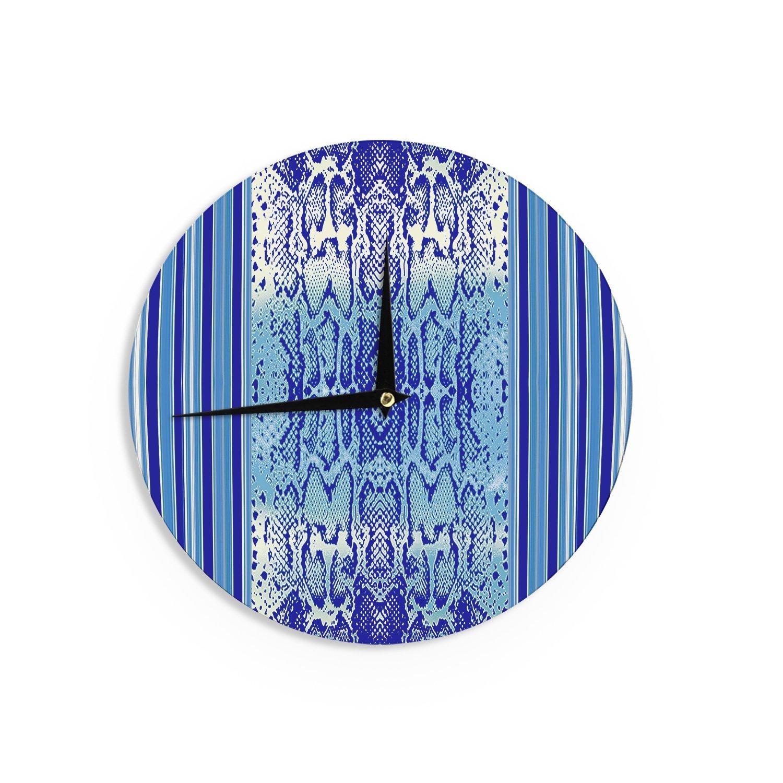 Kess InHouse Nina May DELF Snake Blue Aqua Wall Clock 12-Inch