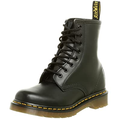 Dr. Marten's Women's 1460 8-Eye Patent Leather Boots, Black Smooth Leather,