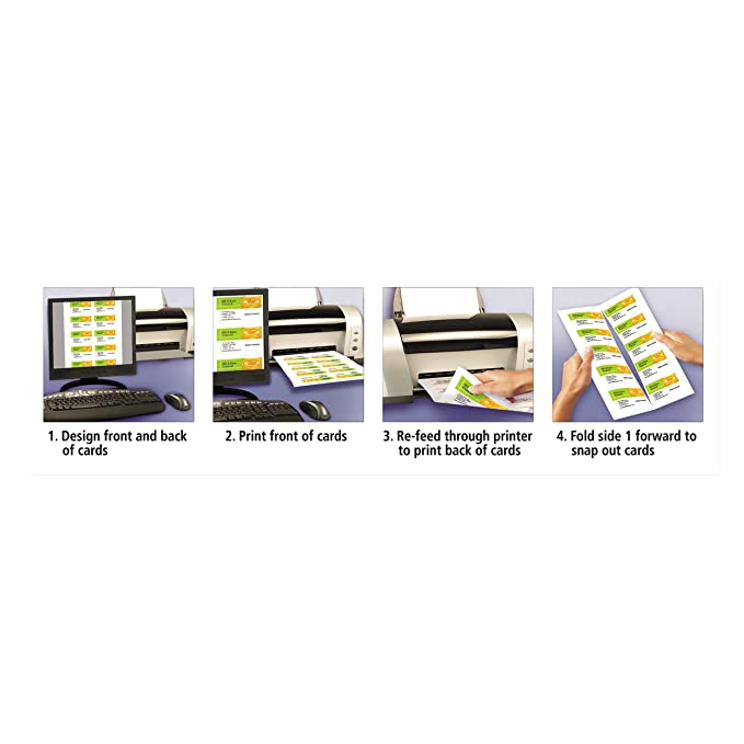 Amazon Avery 8873 Linen Texture True Print Business Cards