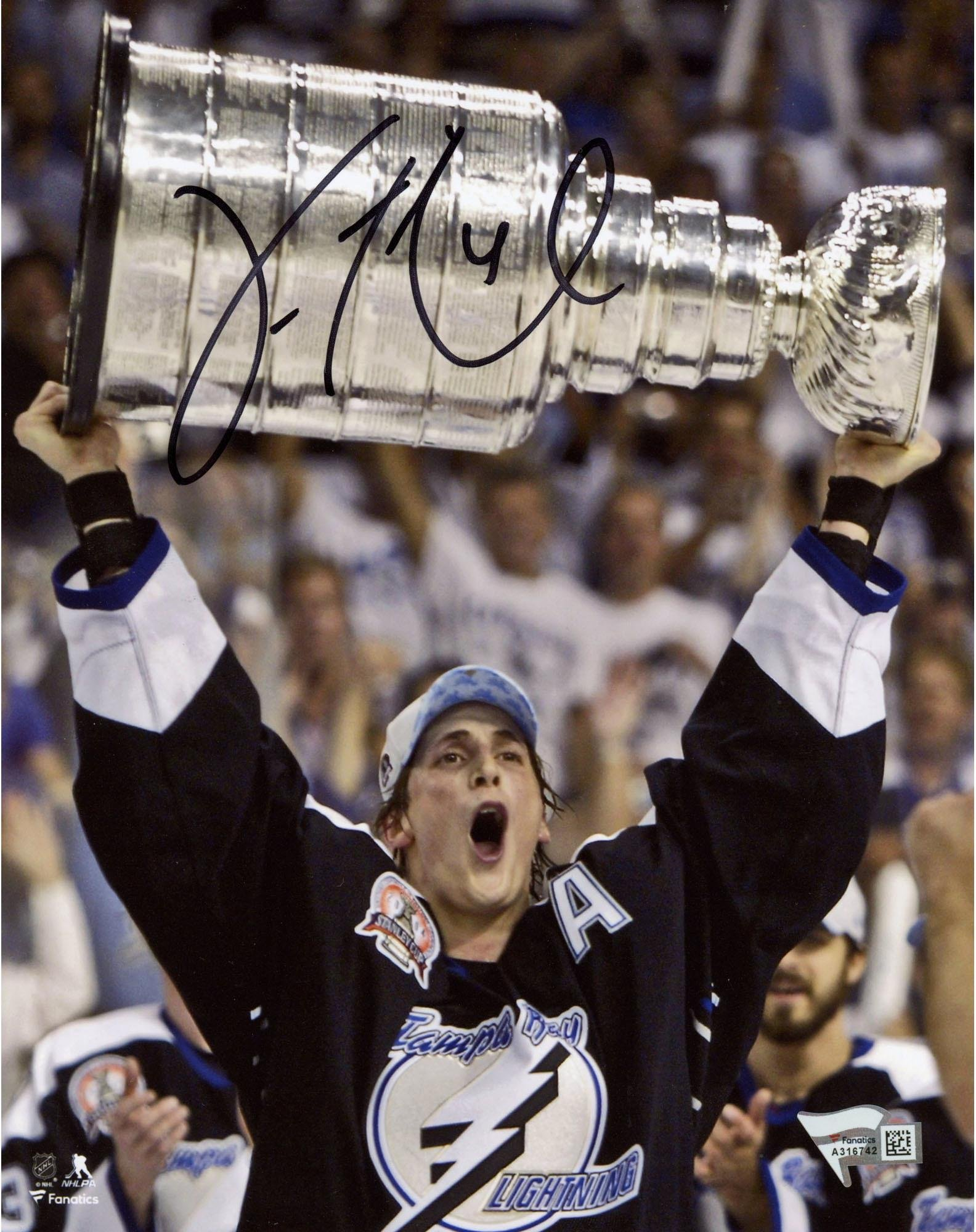 "Vincent Lecavalier Tampa Bay Lightning Autographed 8"" x 10"" Raising Cup Photograph Fanatics Authentic Certified"