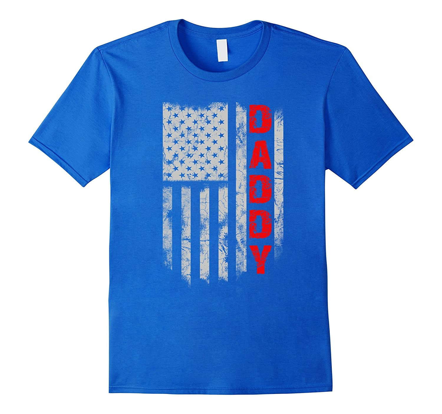Funny Fathers Day Shirt - Daddy America Flag-TH