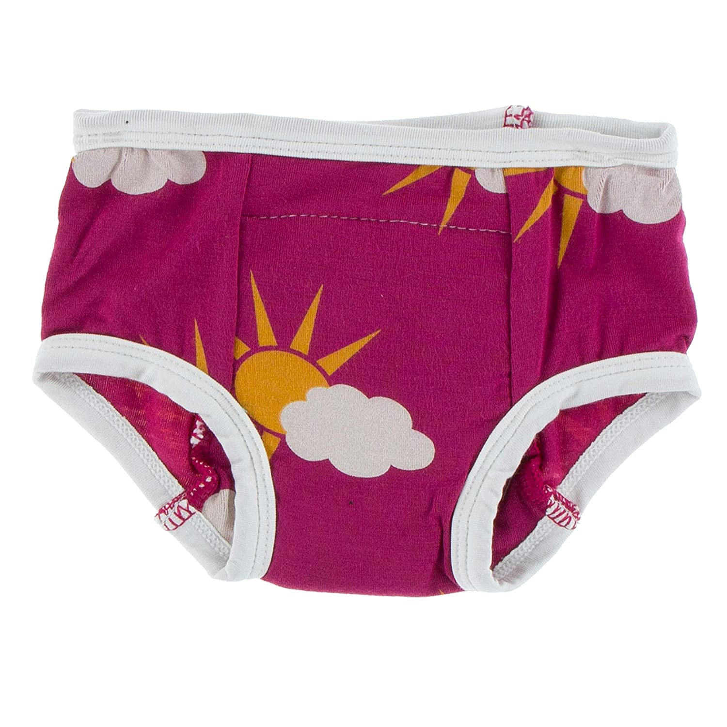 KicKee Pants Training Pants Set Geology and Meteorology Collection 2T-3T, Berry Partial Sun and Macaroon Puddle Duck