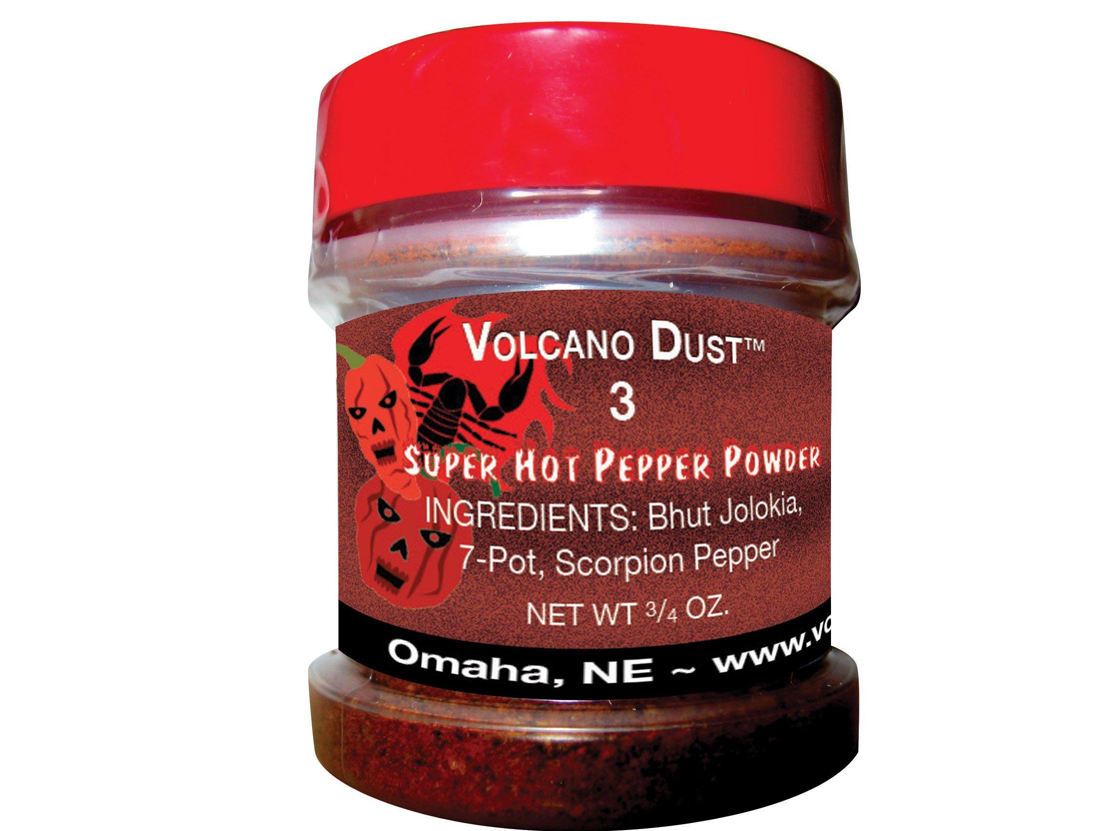 Volcano Dust 3 - Smoked Bhut Jolokia (Ghost), 7 Pot and Scorpion Pepper Powder - Super Hot