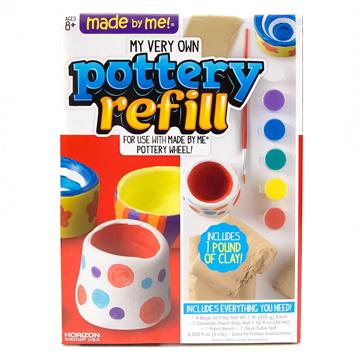 amazon com made by me pottery wheel refill by horizon group usa