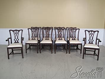 Set Of 10 Henkel Harris Model #107 Chippendale Mahogany Dining Room Chairs  ~ NEW