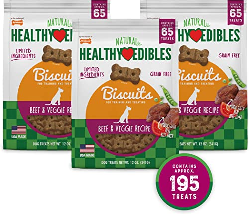 Nylabone Healthy Edibles Biscuits Grain Free Dog Treats Bundle