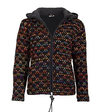 Chaqueta de punto lana para mujer hippie Goa M. Forro Polar ...