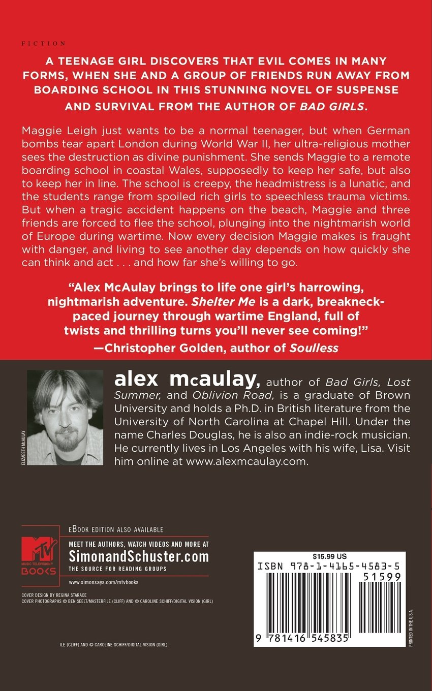 Amazon shelter me 9781416545835 alex mcaulay books fandeluxe Ebook collections
