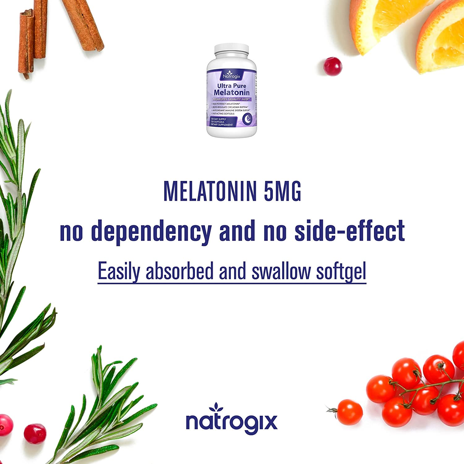 Amazon.com: Natural Ultra Pure Melatonin 5mg (120 Softgels*3 Bottles) Easily Absorbed Supplement to Promote Sleep - Share With Your Family and Friends: ...