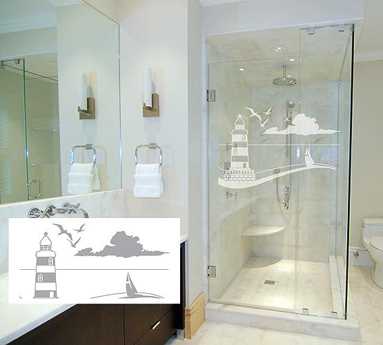 Amazon Lighthouse And Sailboat Coastal Design Series Etched Inspiration Bathroom Doors Design