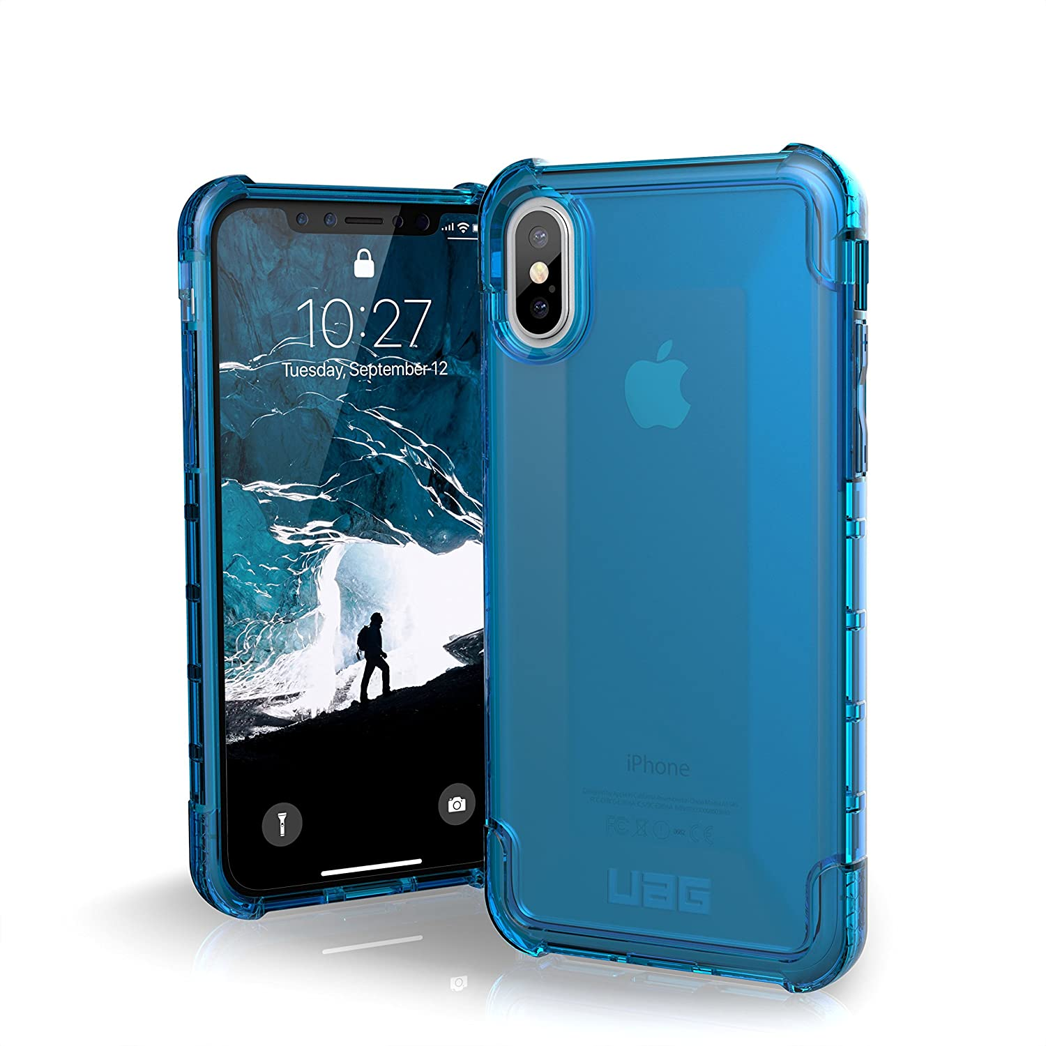 URBAN ARMOR GEAR UAG iPhone Xs/X [5.8-inch Screen] Plyo Feather-Light Rugged [Glacier] Military Drop Tested iPhone Case