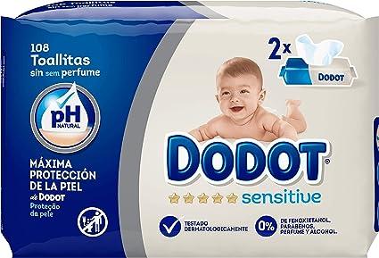 Dodot Sensitive Toallitas para Bebé - Paquetes de 54 unidades, 108 ...