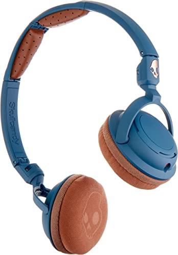 Skullcandy Lowrider Headphones with Rotating Earcups, Supreme Sound Tuning, All Day Comfort, and Built-In Mic Perfect for Active Lifestyles and Easy Listening, Navy Brown Copper