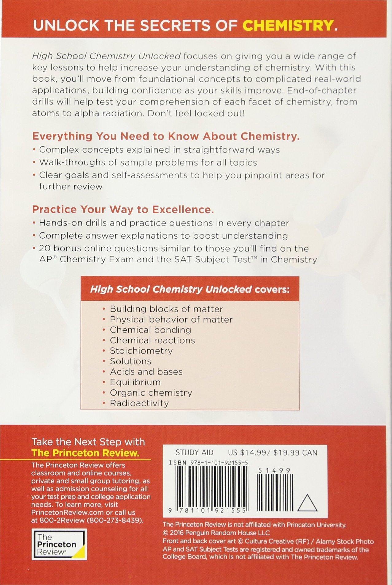 High School Chemistry Unlocked (High School Subject Review): Amazon