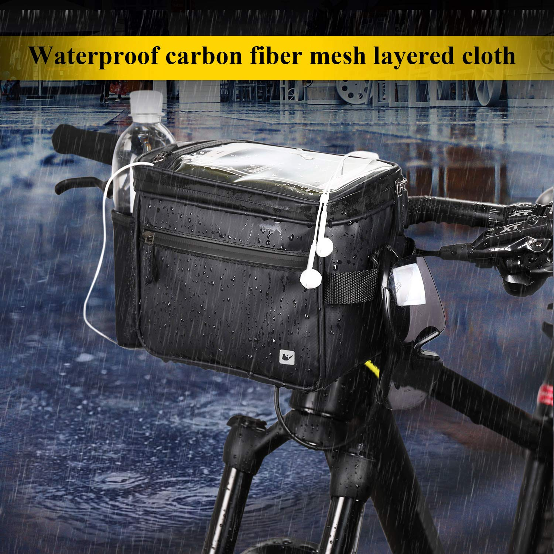 Incluye Correa para el Hombro Extra/íble y Cubierta para la Lluvia Selighting Impermeable Bolsa de Manillar de Bicicletas de Carretera y de Monta/ña para Ciclismo