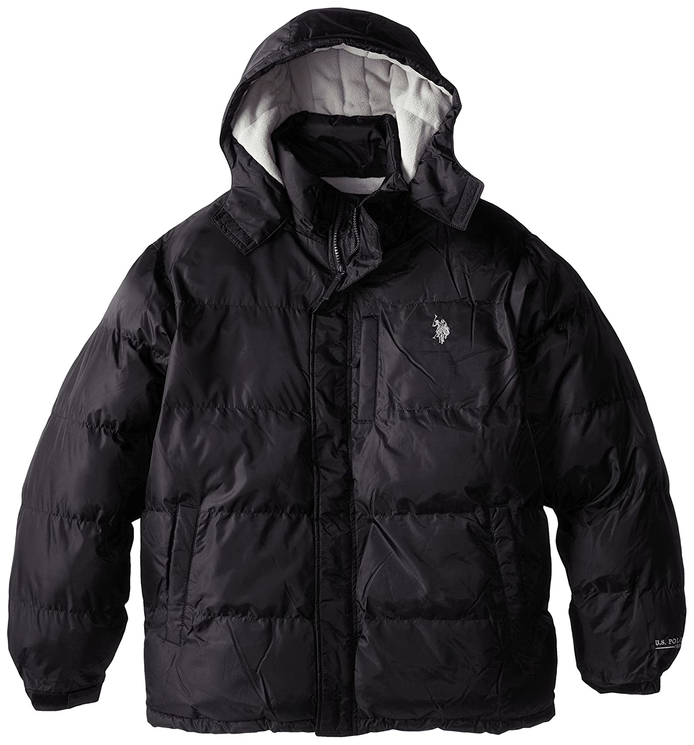 U.S. Polo Assn. Mens Big-Tall Classic Short Puffer Jacket with Pony Logo