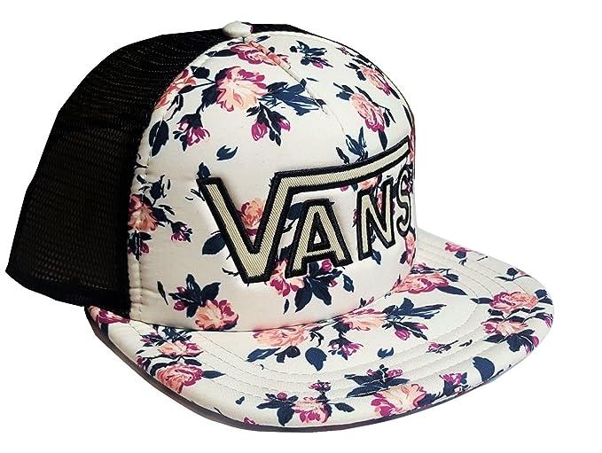 5b678c9cf64 Image Unavailable. Image not available for. Color  Vans Men s Women s OTW Drop  V Trucker Adjustable Snap-Back Hat Floral Black
