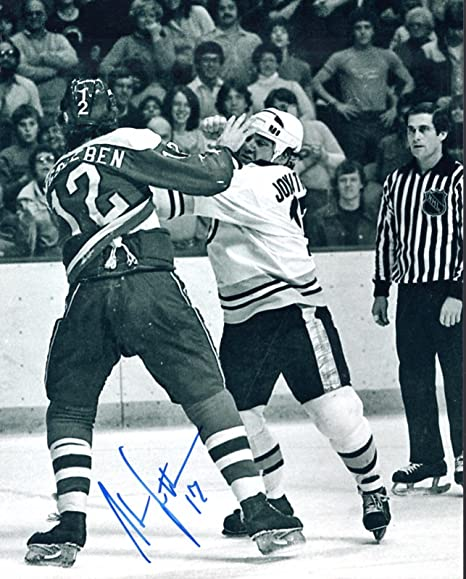 pretty nice 45412 a9075 Stan Jonathan Autographed 8x10 Fight Photo Boston Bruins NHL ...