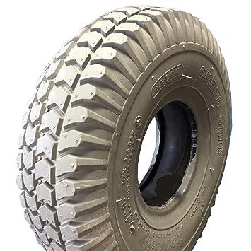 Neumáticos 3.00 - 4 (260 x 85), 4 PR, Gris, bloque perfil para elektromobil, silla, Scooter: Amazon.es: Coche y moto