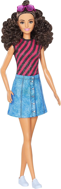 Amazon.es: Barbie - Fashionista, muñeca con Top de Rayas (DVX77 ...