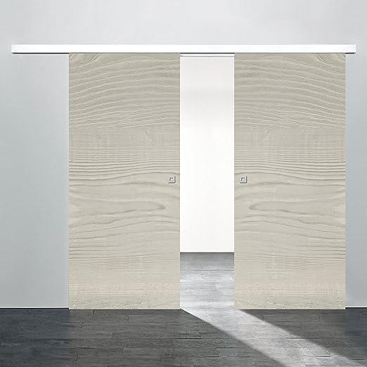 Schiebetür Holz-Schiebetür 2 flügelig Zimmertür 1760x2035mm Pinie ...