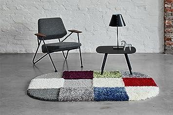 Amazon.de: Rugment - Hochflor Designer Teppich aus 12 Elementen weiß ...