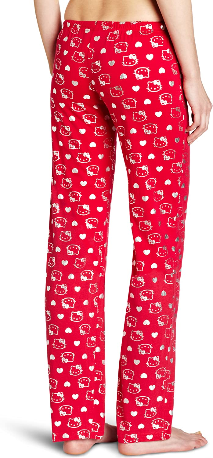 Hello Kitty Womens Red Foil Print Pant