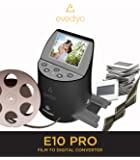 Evedyo E10 PRO Film to Digital Converter (7-in-1) – Slide Scanner Converts 35mm, 8mm, Negatives & More – Quick & Easy Operation – Digitize Old Memories to High-Definition 22MP Images