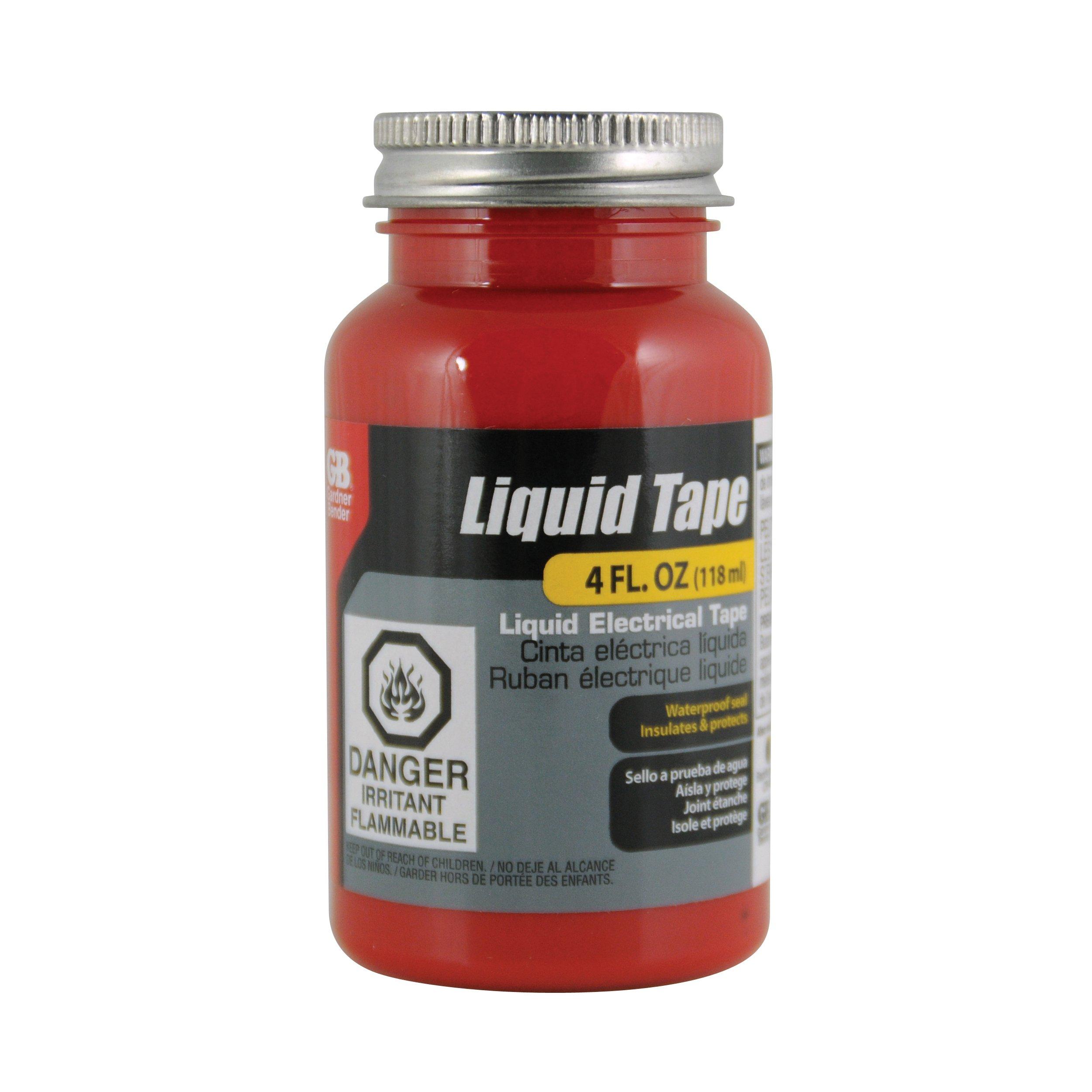 Gardner Bender LTR-400 Waterproof Liquid Electrical Tape, 4 Oz, Red