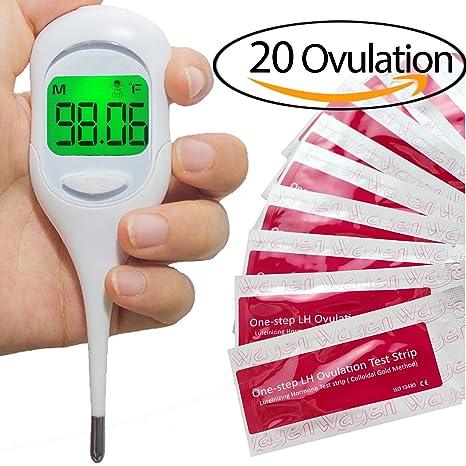 Wagen Kit de predicción de la ovulación - Termómetro basal y 20 tiras de prueba de