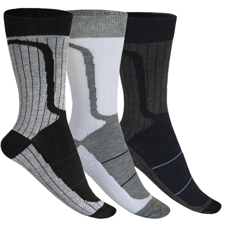 12 24 Paar Business Arbeits Socken für Herren Schwarz-Grau-Weiß Mix Baumwolle von SGS