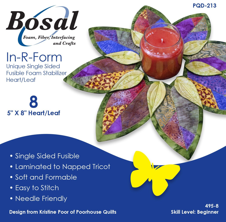 Amazon.com: Bosal In-R-Form Unique Single Sided Fusible Foam ...