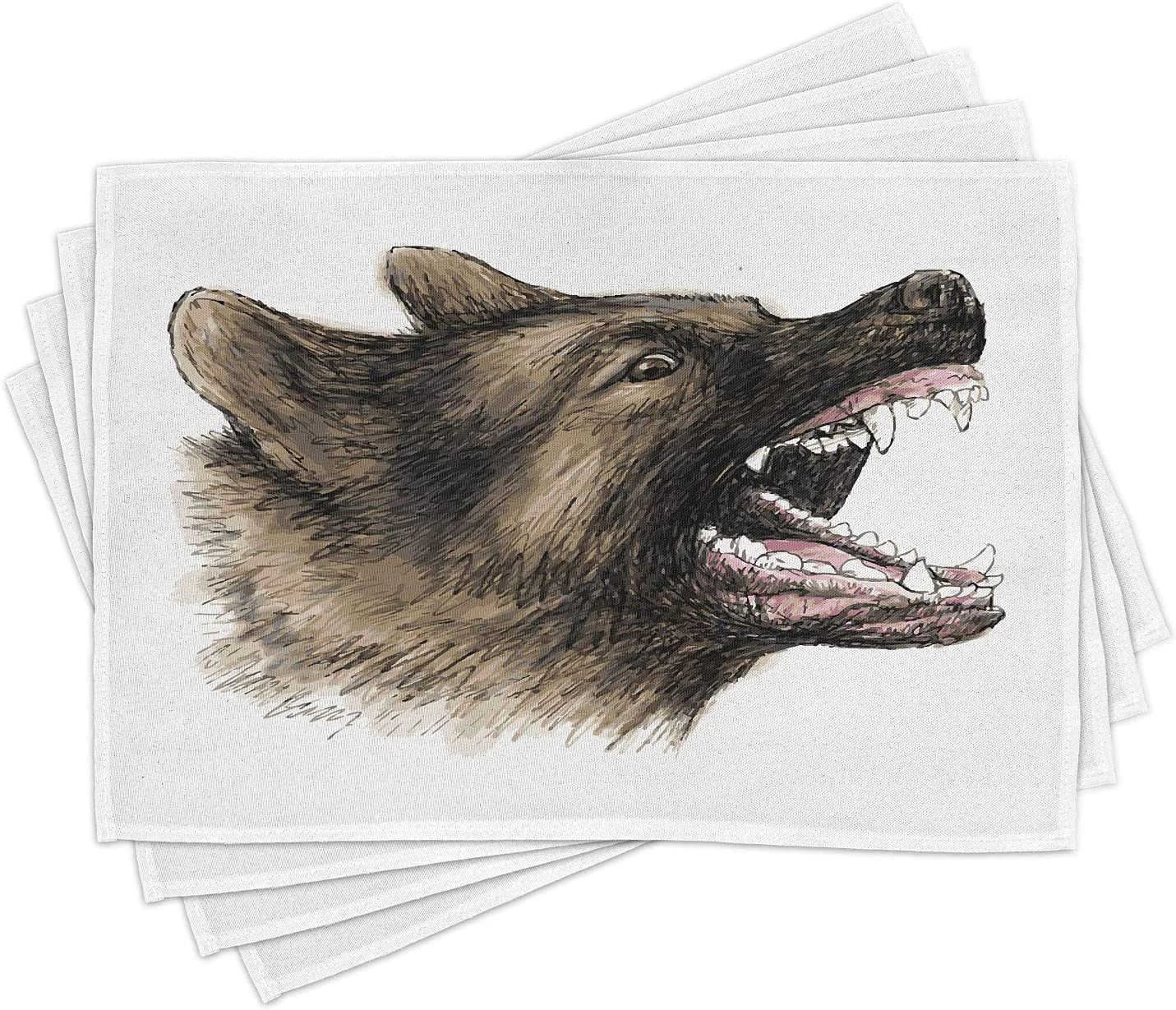 Quality Table Placemats Little Snoring Gifts Set of 4 German Shepherd