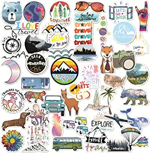 New Vsco Stickers for Water Bottles 50 Pcs Cute Aesthetic Stickers for Hydro Flask Laptop Teen Girl boy