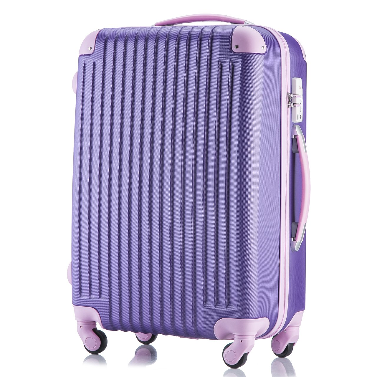 (トラベルデパート) 超軽量スーツケース TSAロック付 B01FCQNWCE Lサイズ(長期旅行用/86L)|パープル パープル Lサイズ(長期旅行用/86L)