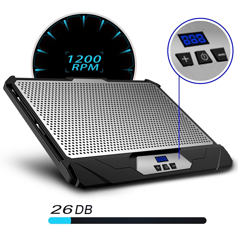 KLIM Swift Base de Refrigeración para Portátil Alto Rendimiento en Aluminio para PC y Mac con