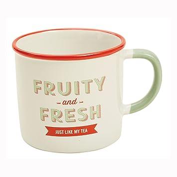 Jamie Oliver Vintage Kaffeebecher Teebecher Kaffee Tee Tasse Steingut 450 ml