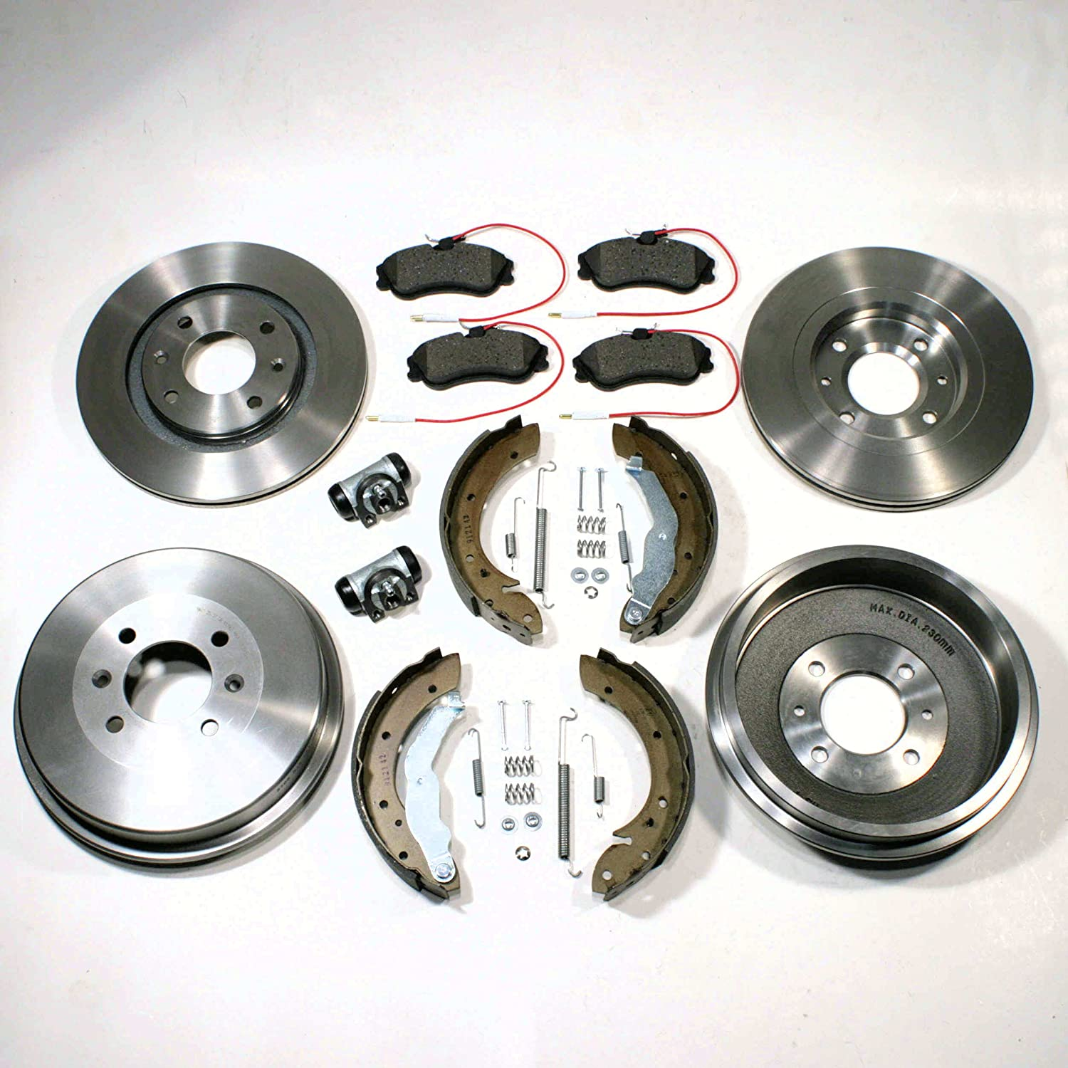 CITROEN C1 1.0 VTR 2005-2016 FRONT 2 BRAKE DISCS AND PADS SET BRAND NEW KIT