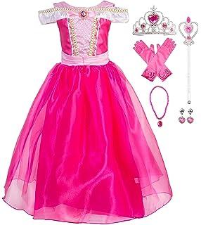 a8cb129c85c Okidokiyo Little Girls Princess Aurora Costume Halloween Party Dress Up