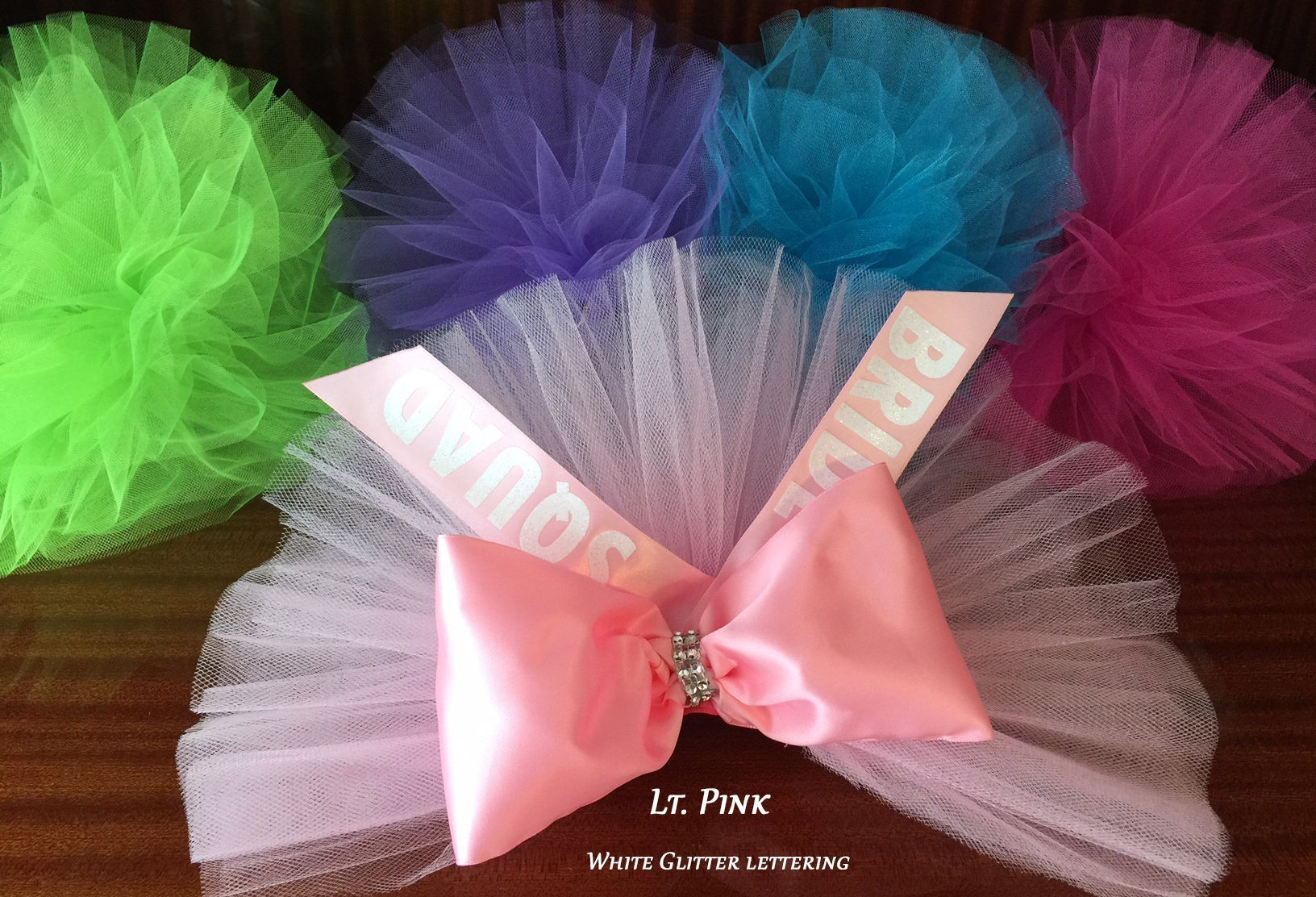Bikini Veil, Bride's Squad, Bride's Possee, Bridal Shower, Bachelorette Party, Booty Veil, Butt Veil - PERSONALIZED colors available in tulle, ribbon and lettering by SashANation