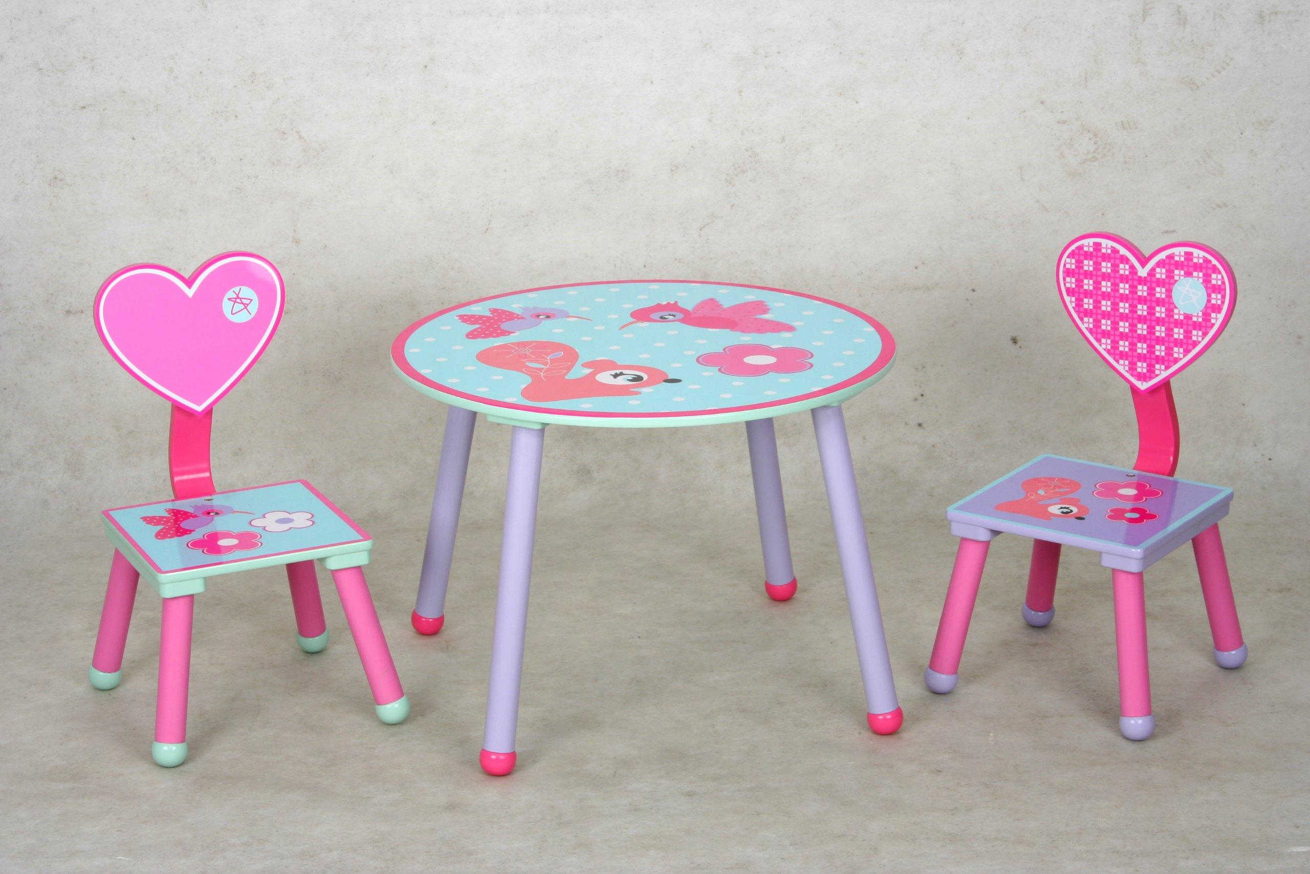 eHemco Kids Table and Chair Set - Heart Theme