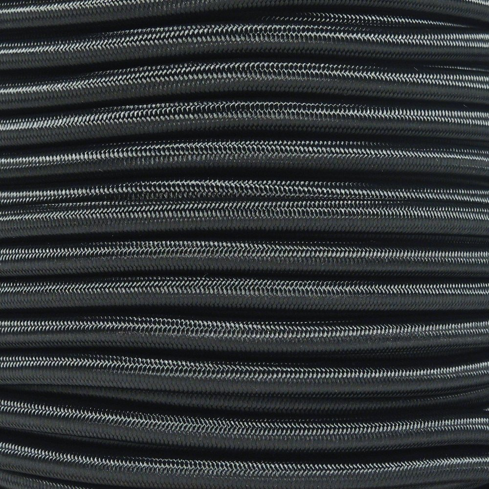 West Coast Paracord Marine Grade Shock Cord 1/4-inch - Lengths up to 1000 feet - Made in USA (1000 Feet, Black) by West Coast Paracord