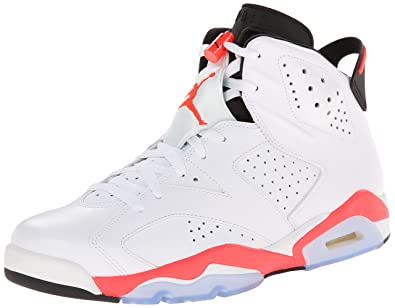 Jordan Air 6 Retro Men s Basketball Shoes White Infrared-Black 384664-123 ( cdb44d933