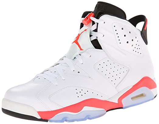 Jordan Mens Air Jordan 6 Chaussures De Basket-ball En Cuir Rétro