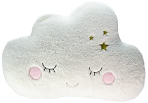 Little Love by NoJo Cloud Shaped Pillow, White