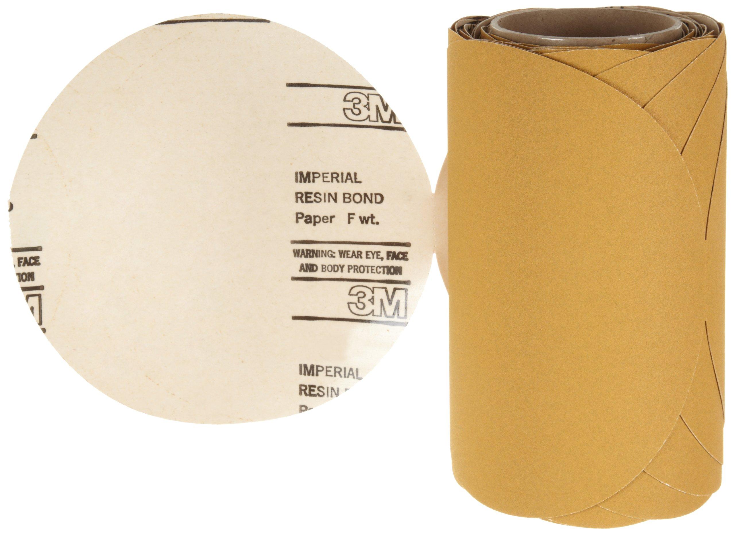 3M Stikit Paper Disc Roll 363I, PSA Attachment, Aluminum Oxide, 8'' Diameter, P150 Grit (Roll of 50) by Cubitron (Image #1)