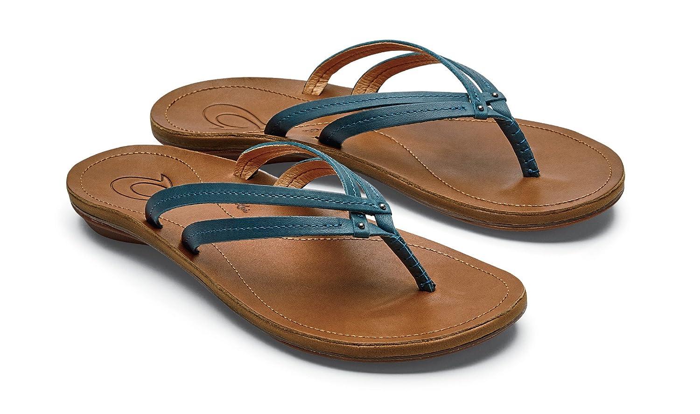 OLUKAI U'I Sandals - Women's B07934RYGZ 7 B(M) US|Teal/Sahara